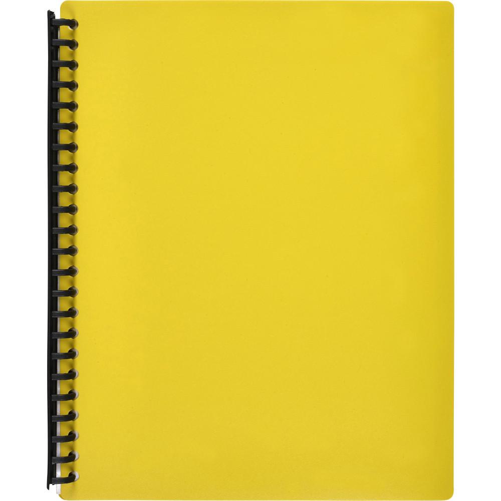 MARBIG REFILLABLE DISPLAY BOOK A4 40 Pocket Yellow