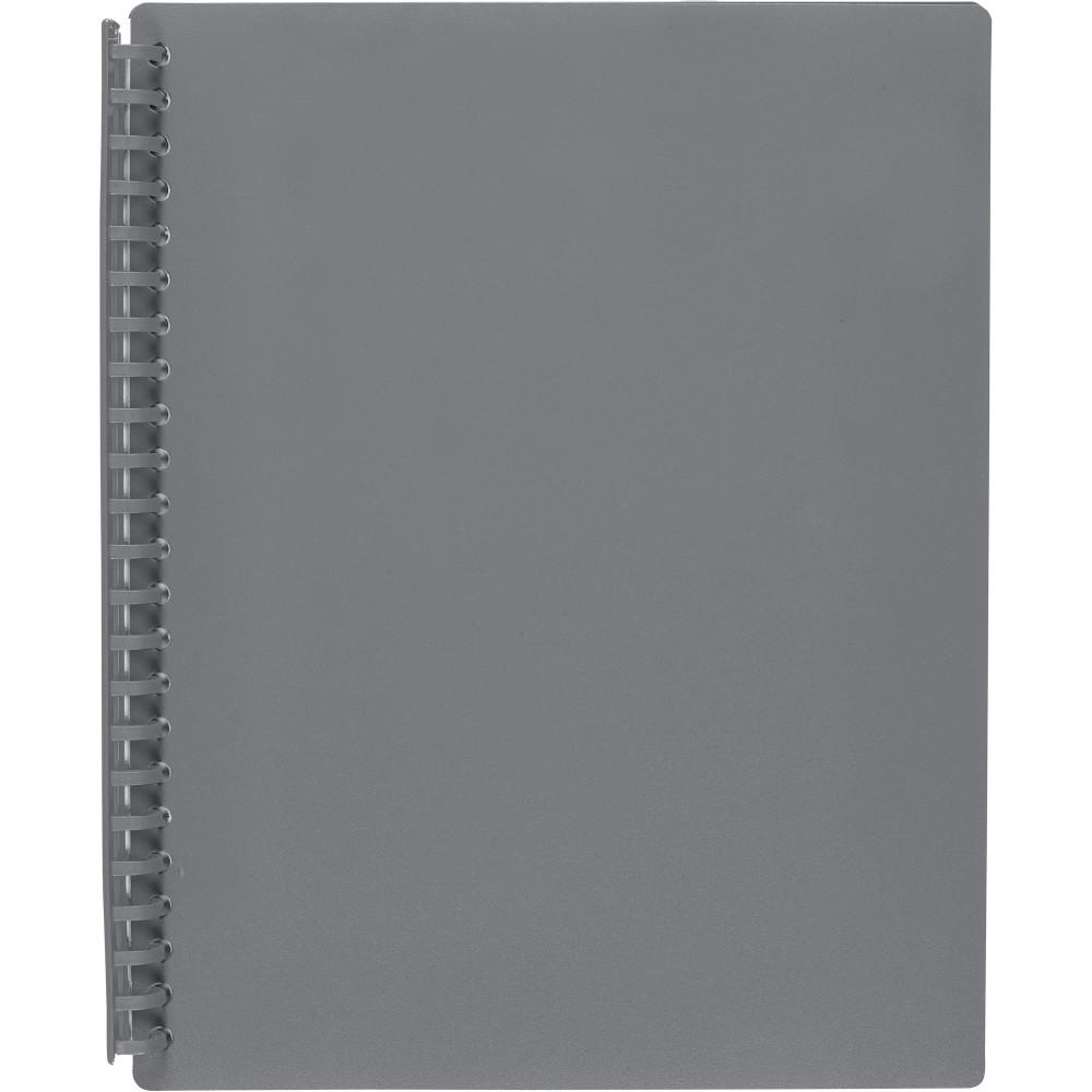 MARBIG REFILLABLE DISPLAY BOOK A4 20 Pocket Grey