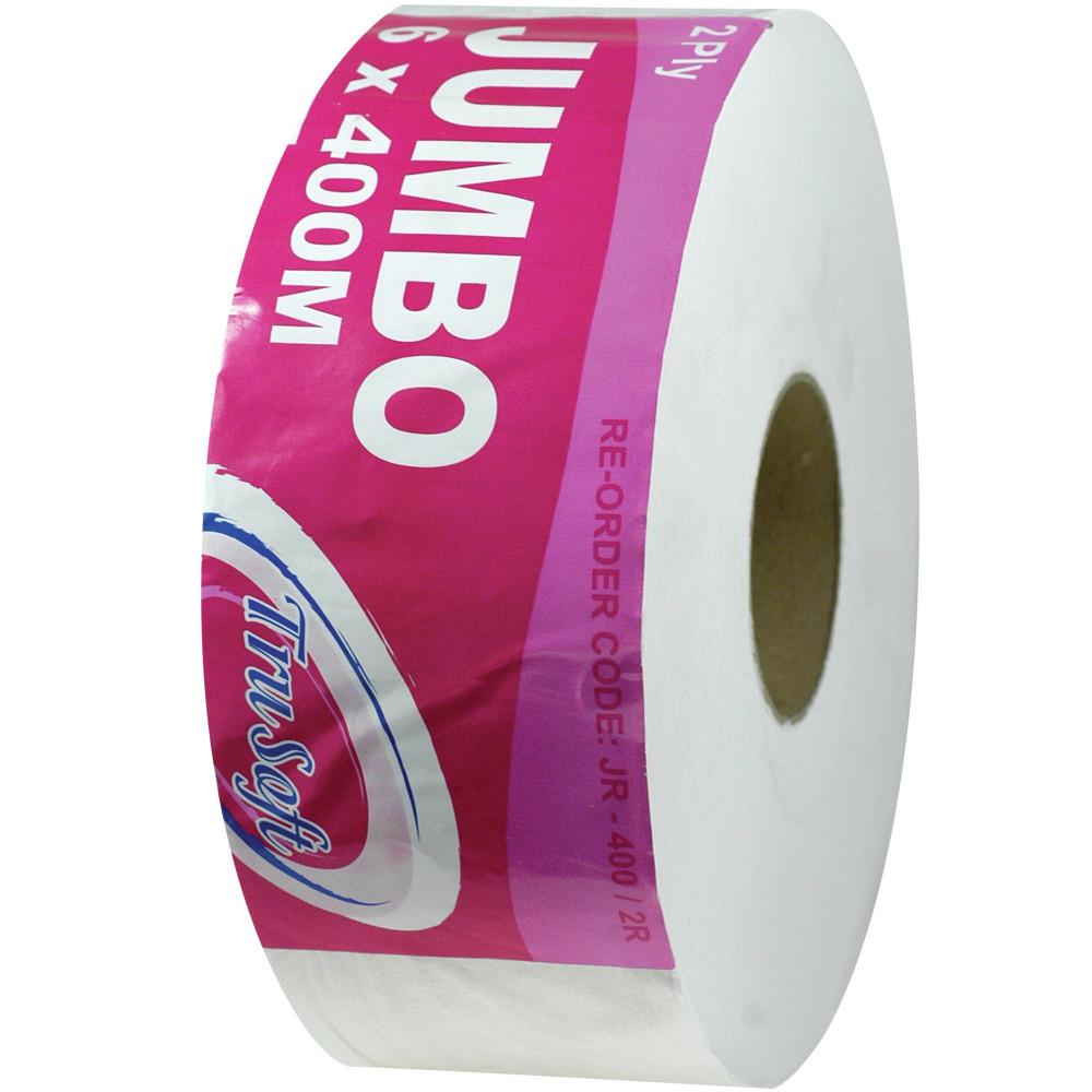 TRUSOFT JUMBO TOILET ROLLS 2ply 400MTR Carton of 6