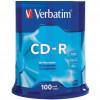 VERBATIM RECORDABLE CDS CD-R 52X 80Min/700MB Pk100