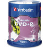 VERBATIM RECORDABLE DVD DVD+R 4.7GB IJ Printable Pk100