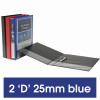 MARBIG ENVIRO INSERT BINDERS Clearview A4 2D Ring 25mm Blue