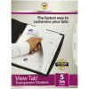 MARBIG VIEW TAB DIVIDERS A4 PP 5 Tab Clear