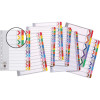 MARBIG COLOURED DIVIDERS A4 FIN YEAR TAB REINF BRD AST