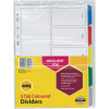 MARBIG COLOURED DIVIDERS A4 PP 5 Tab Multi