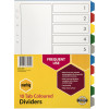 MARBIG COLOURED DIVIDERS A4 PP 10 Tab Multi