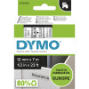 DYMO D1 LABEL CASSETTE 12mmx7m -Black on Clear