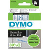 DYMO D1 LABEL CASSETTE 12mmx7m -Blue on White