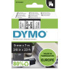 DYMO D1 LABEL CASSETTE 9mmx7m -Black on White