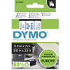 DYMO D1 LABEL CASSETTE 9mmx7m -Blue on White
