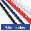 REXEL BINDING COMB 10mm 21Loop 65Sht Cap Blue