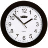 CARVEN WALL CLOCK 250mm Plastic Frame Black