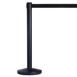 Visionchart Retracta Q Barrier Stand Black with 2m Black Belt