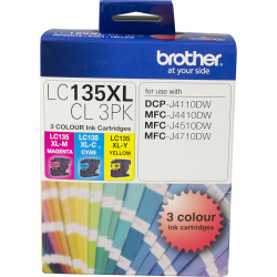 BROTHER LC135XL H/Y VALUE PACK Cyan, Magenta, Yellow H Yield