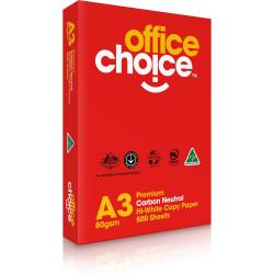 OFFICE CHOICE COPY PAPER Premium A3 80gsm