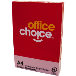 OFFICE CHOICE TINTS COPY PAPER A4 80gsm Pink