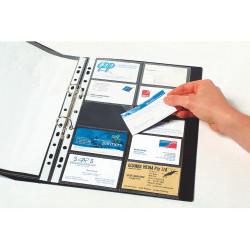 MARBIG BUSINESS CARD POCKETS A4 20Cap Clear Pk10