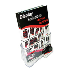 DEFLECT-O BROCHURE HOLDERS A4 Free&W/Mount, + Bus.Card