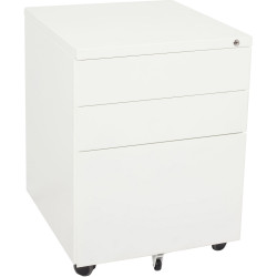 RAPIDLINE MOBILE PEDESTAL 3DR 2 Std 1 Filing White H610xW450xD500