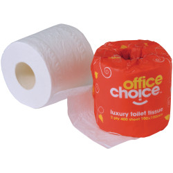 OFFICE CHOICE TOILET ROLLS Premium 2 ply 400 sheet