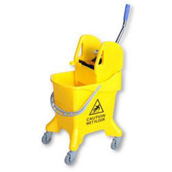CLEANLINK DELUXE MOP BUCKET Downward Press 31 Litre Yellow