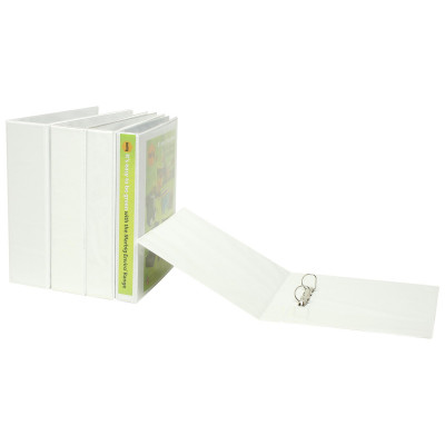 MARBIG ENVIRO INSERT BINDERS Clearview A4 4D Ring 65mm Wht